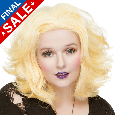 "**Retired** Lace Front 14"" Shag - Light Blonde Mix - 00796"