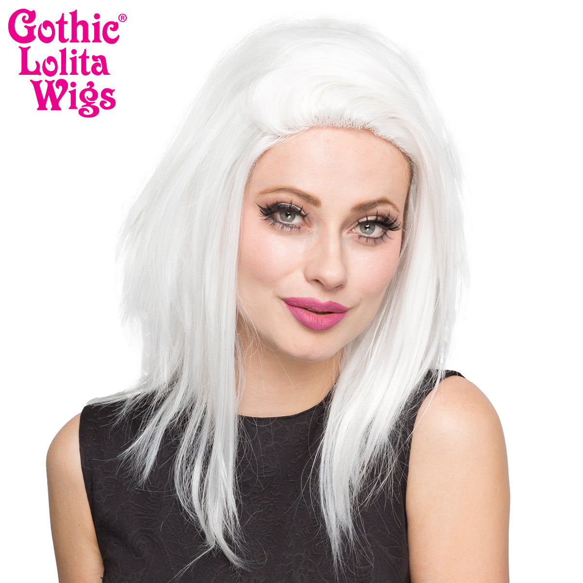 "Lace Front 18"" Layered Yaki - White - 00791"