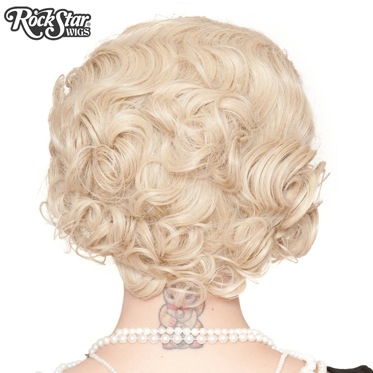 RockStar Wigs®- 1920's Flapper Finger Waves - Blonde (00838)
