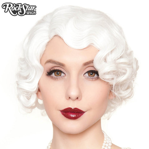 RockStar Wigs®- 1920's Flapper Finger Waves - White (00841)
