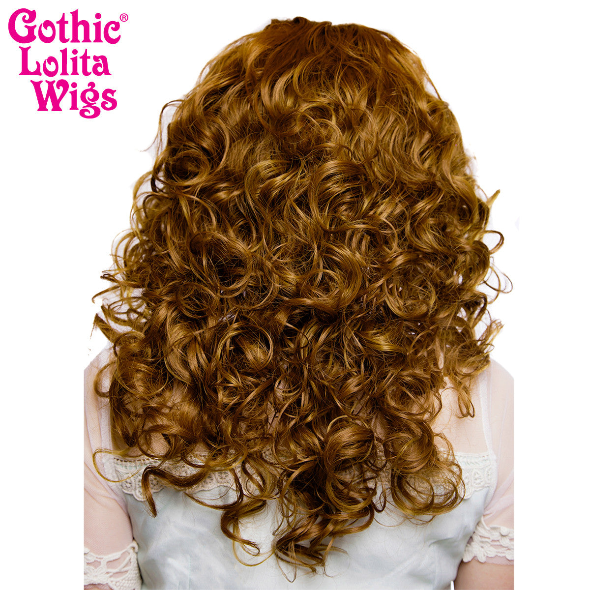 "Lace Front 20"" Medium Curly - Medium Brown Blend -00769"