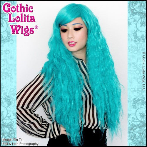 Genuine RHAPSODY Gothic Lolita Wigs long teal turquoise mermaid hair