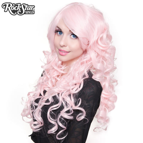"Cosplay Wigs USA™ <br> Curly 70cm/28"" - Light Powder Pink -00552"
