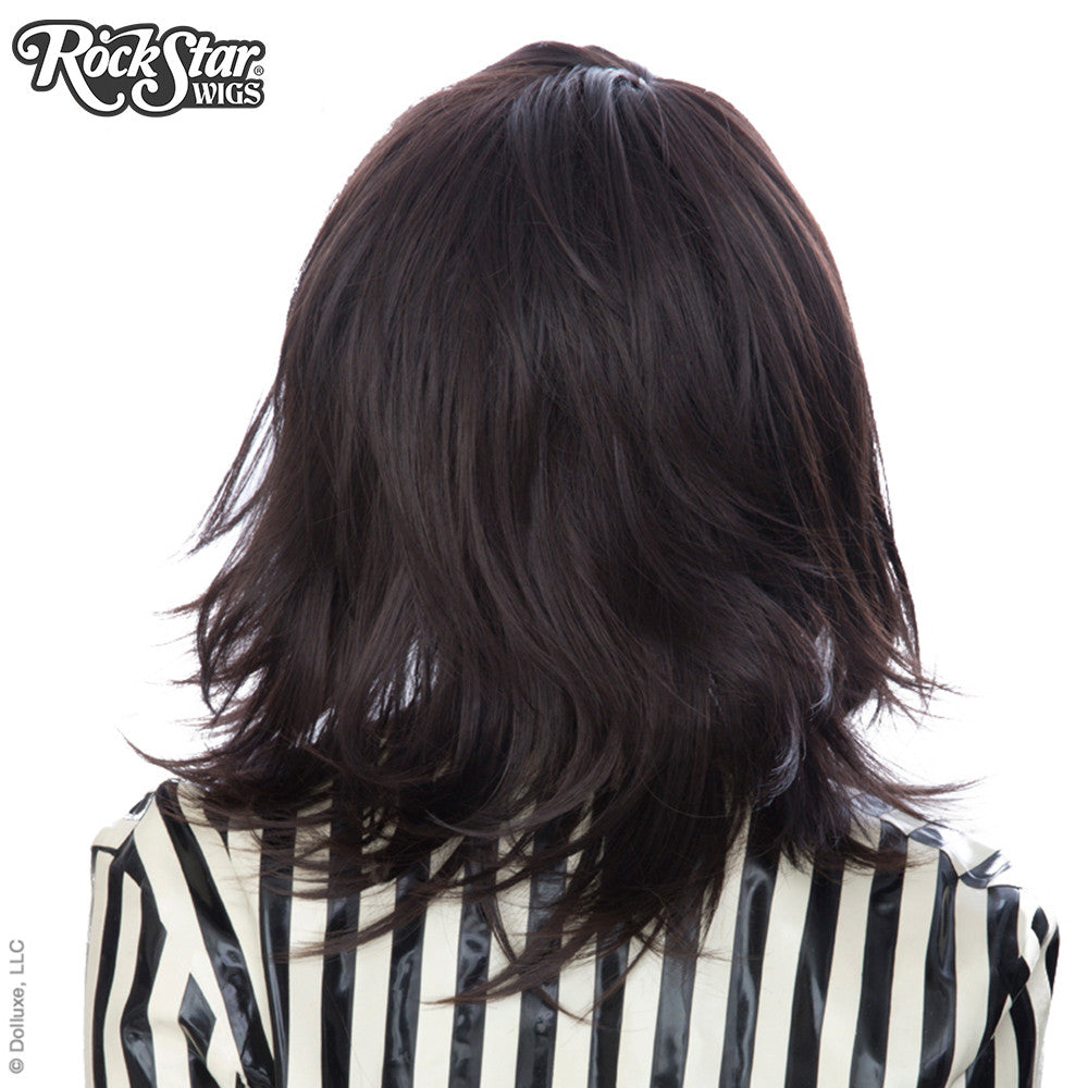 Cosplay Wigs USA™ <br> Boy Cut Shag - Dark Brown -00289