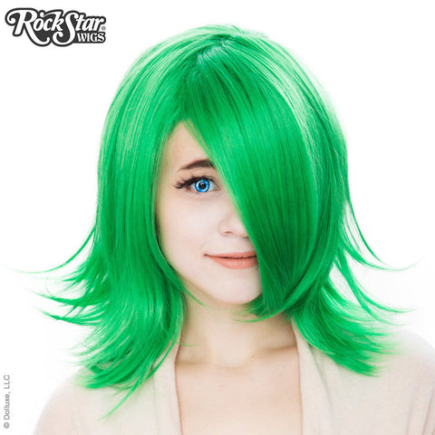Cosplay Wigs USA™ <br> Boy Cut Shag - Emerald Jade Green -00290