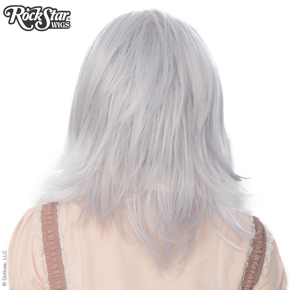 Cosplay Wigs USA™ <br> Boy Cut Shag - Silver -00299