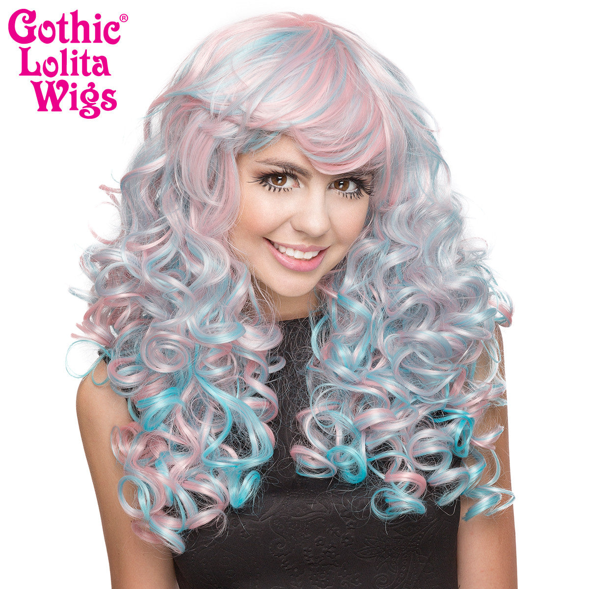 Gothic Lolita Wigs® <br> Baby Dollight™ Collection - Pink & Blue Blend -00013