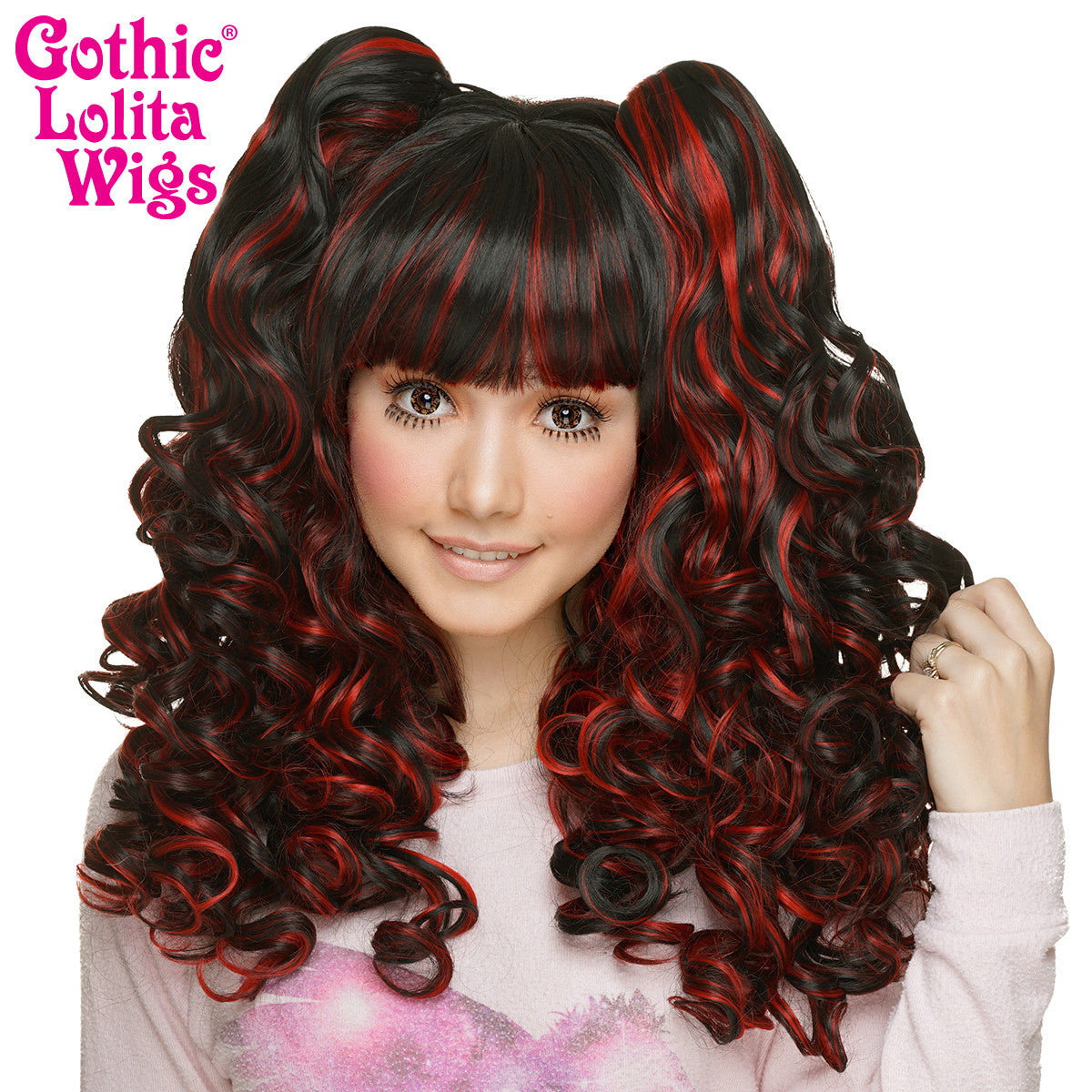 Gothic Lolita Wigs® <br> Baby Dollight™ Collection -Black & Red Blend -00003
