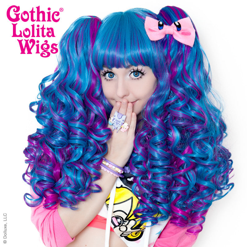 Gothic Lolita Wigs® <br> Baby Dollight™ Collection - Turquoise & Magenta Blend -00016