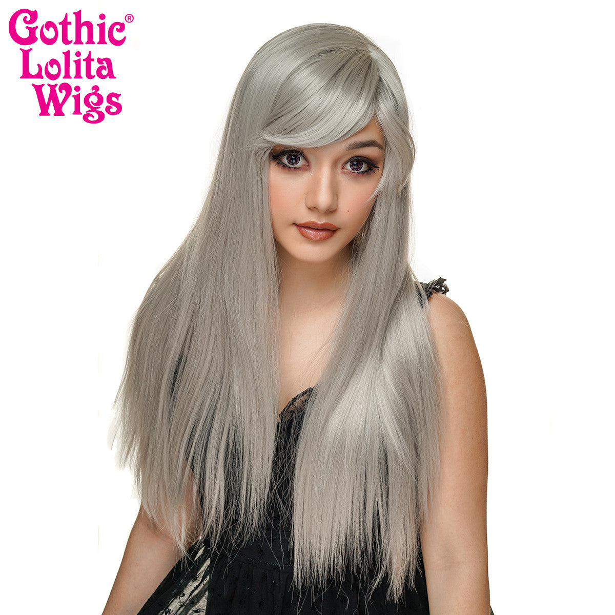 Gothic Lolita Wigs® <br> Bella™ Collection - Silver - 00684