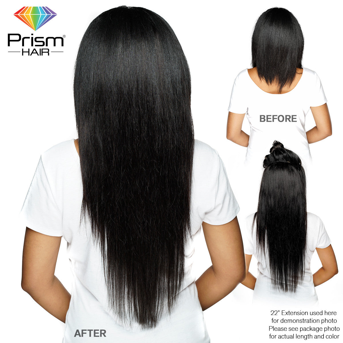 "Prism Hair® Extension 12""- Black - 00734"