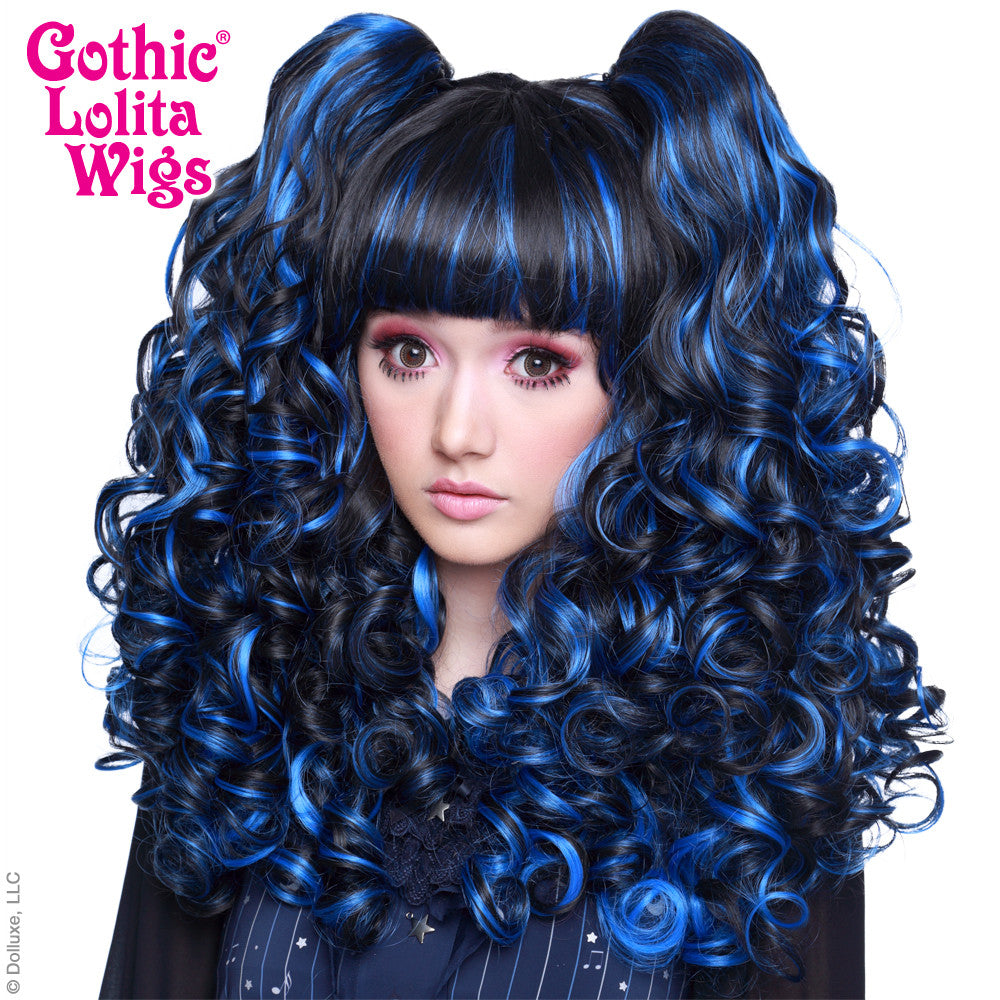 Gothic Lolita Wigs® <br> Baby Dollight™ Collection - Black & Blue Blend -00002