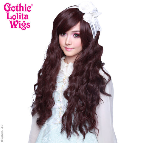 Gothic Lolita Wigs® <br> Classic Wavy Lolita™ Collection - Black Mahogany Burgundy -00497
