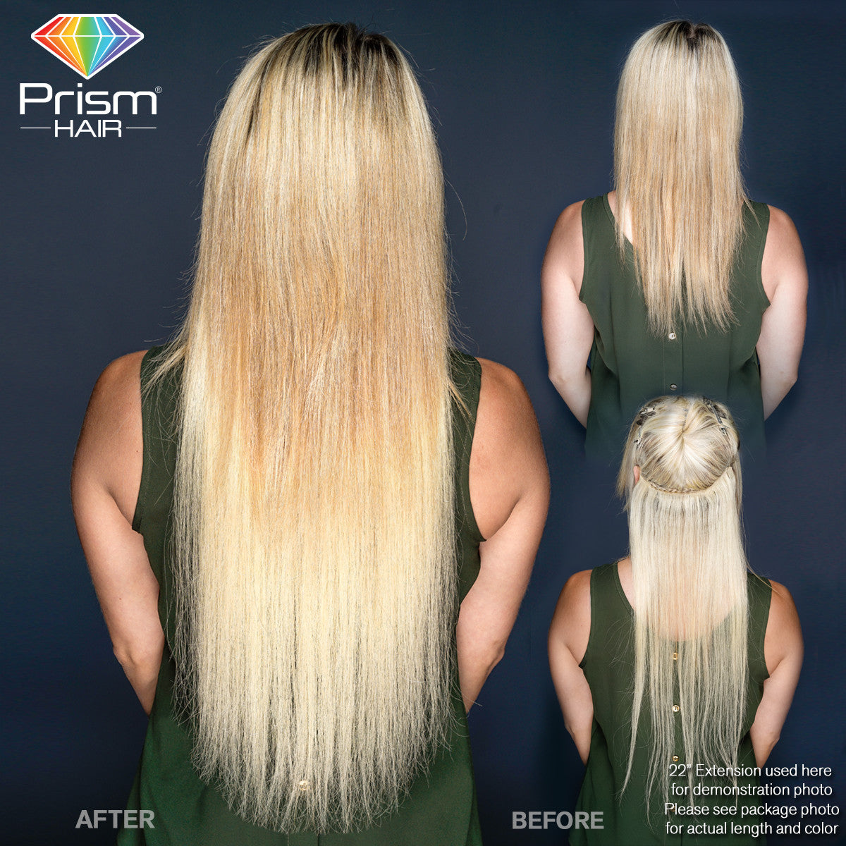 Prism Hair Extension 14 Blonde 00748 Dolluxe
