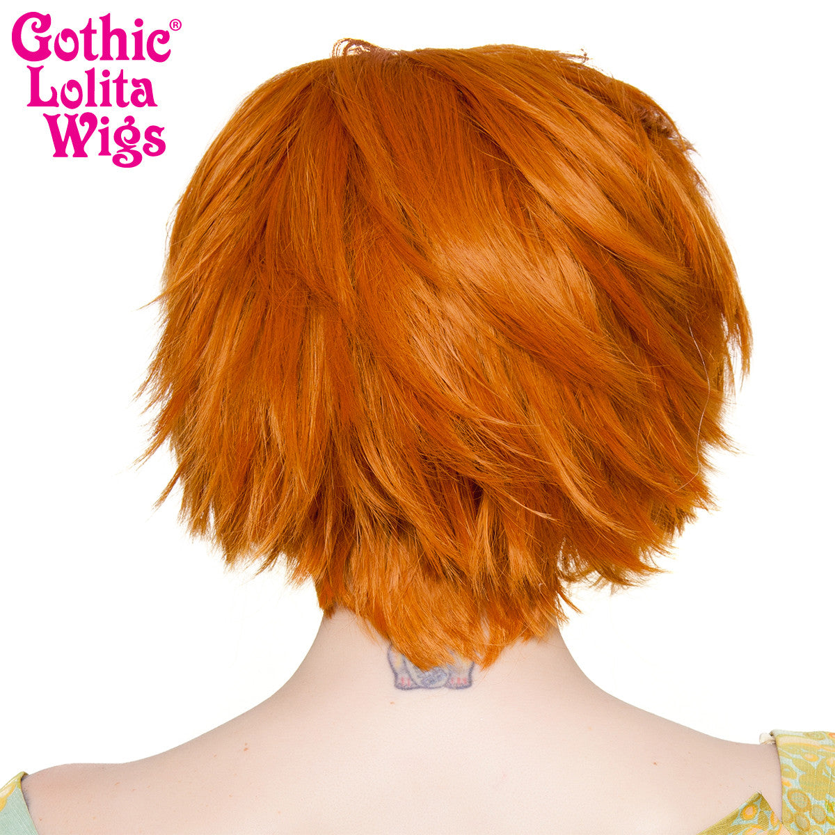 Lace Front Boy Cut- Dark Pumpkin Orange -00806