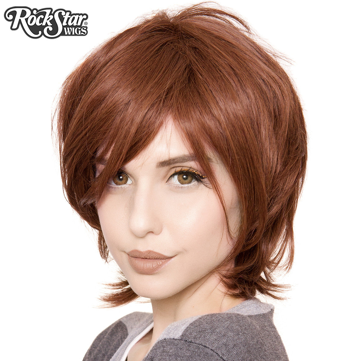Cosplay Wigs USA™ <br> Boy Cut Long - Chestnut Brown -00274