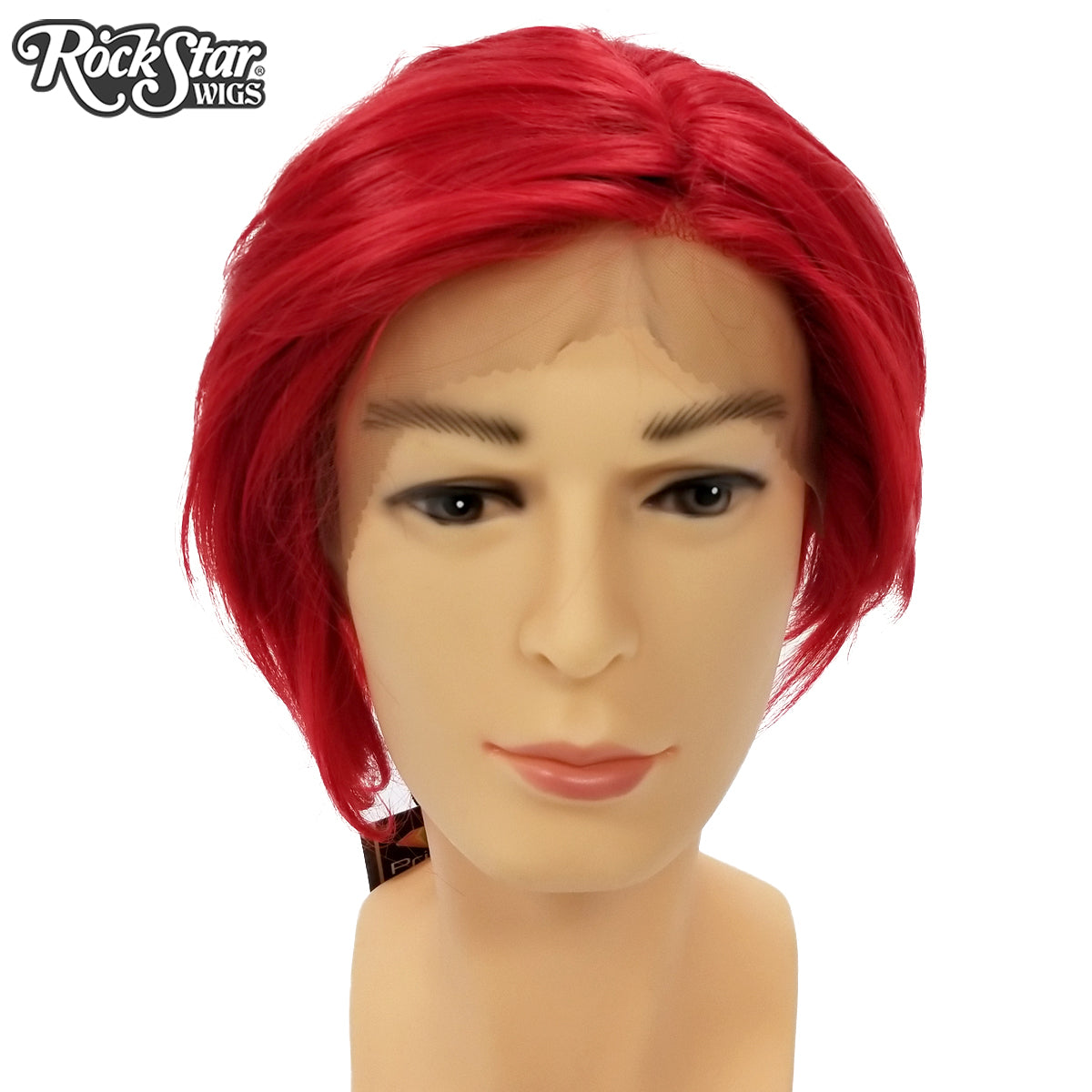 **RETIRED** Lace Front Boy Cut - Red 00807
