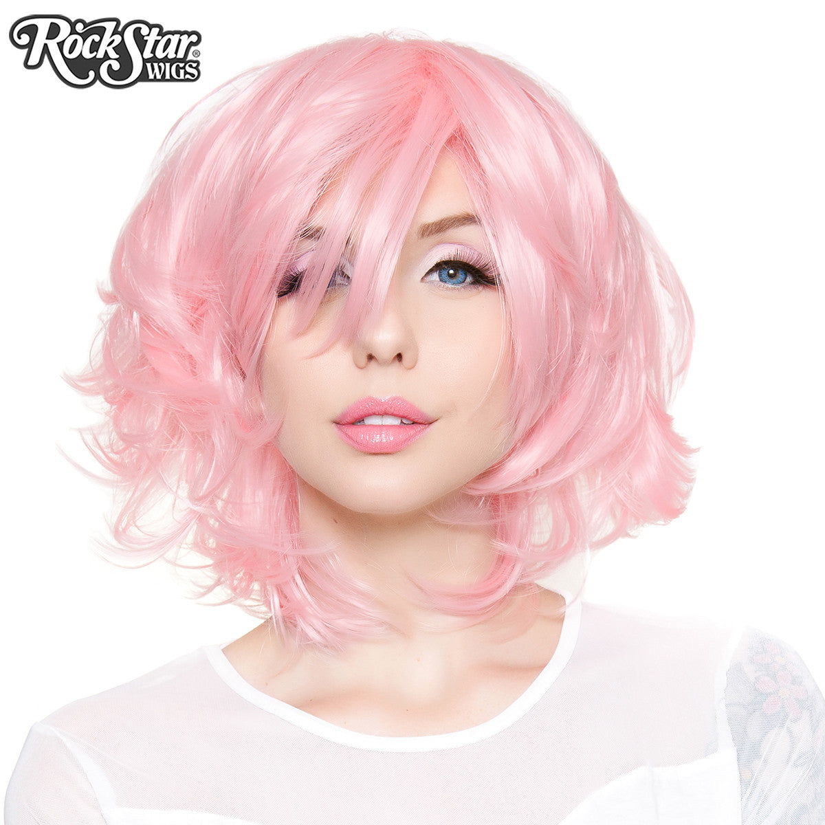 Cosplay Wigs USA™ <br> Boy Cut Short Shag - Light Powder Pink -00443