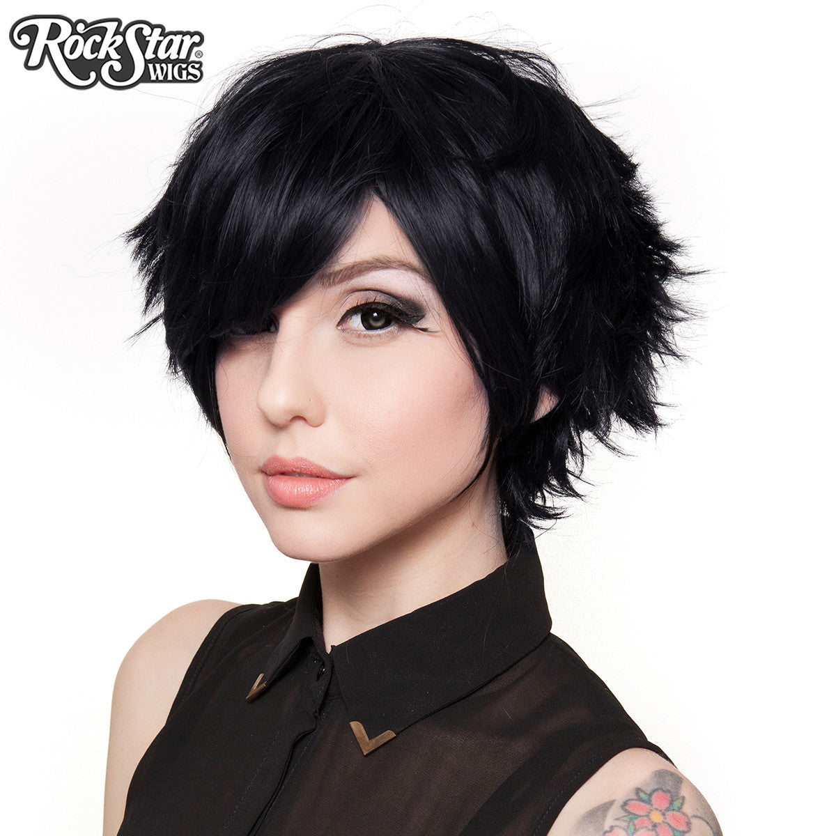 cosplay wigs usa� boy cut short black 00258 � dolluxe174