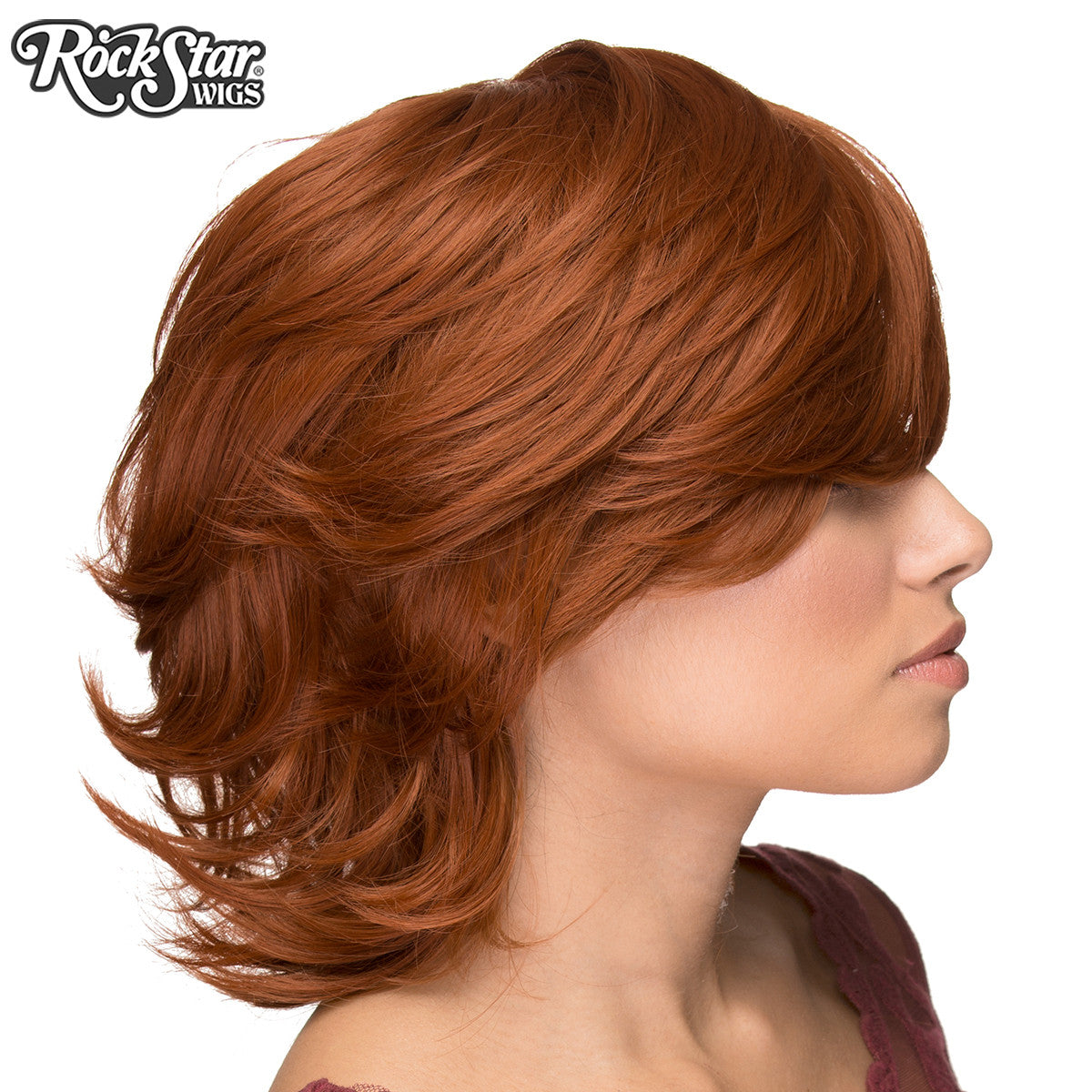 Cosplay Wigs USA™ <br> Boy Cut Short Shag - Auburn -00523