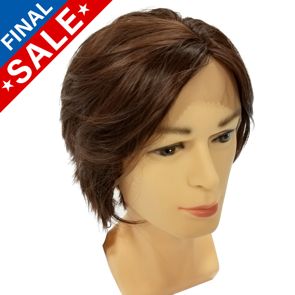 **RETIRED** Lace Front Boy Cut - Chocolate Brown 00803