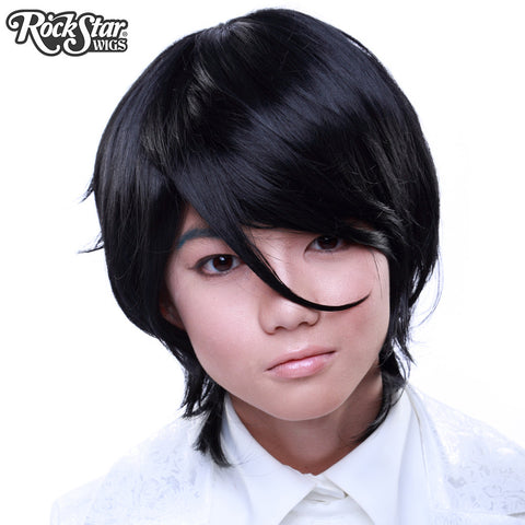 Cosplay Wigs USA™ <br> Boy Cut Long - Black -00273