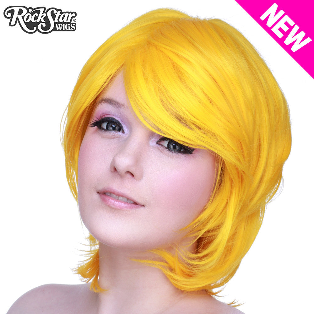 Cosplay Wigs USA™ <br> Boy Cut Long - Yellow -00485