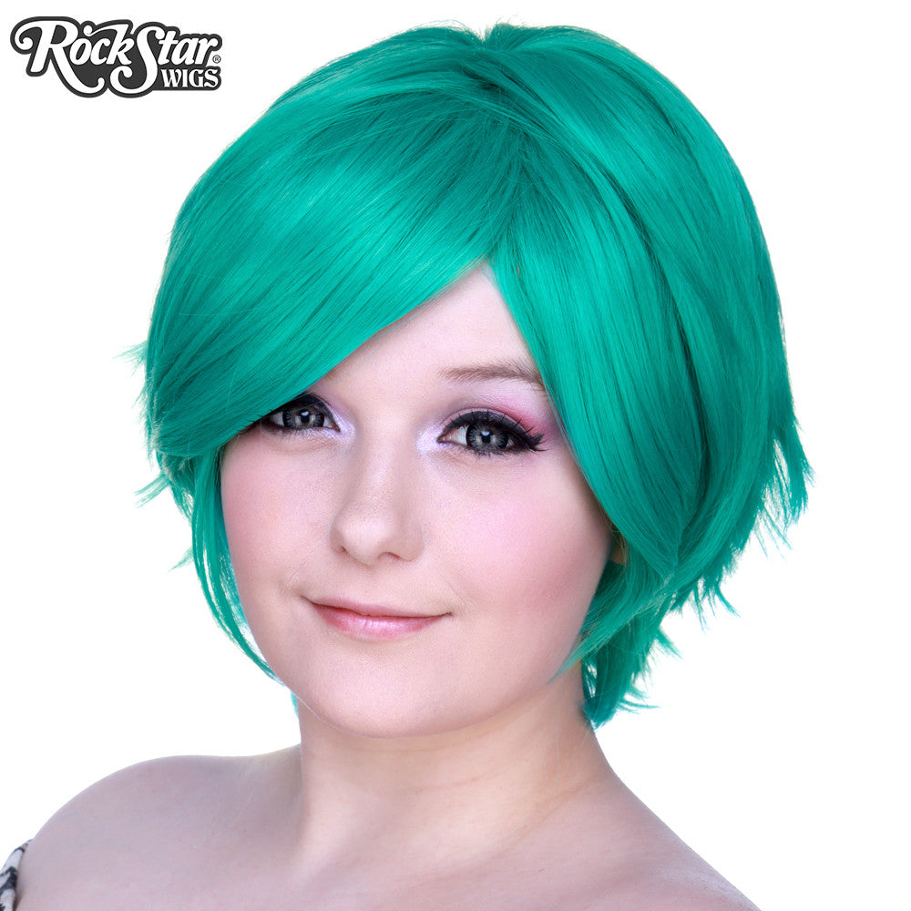 Cosplay Wigs Usa Short Boy Cut Teal Dolluxe 174