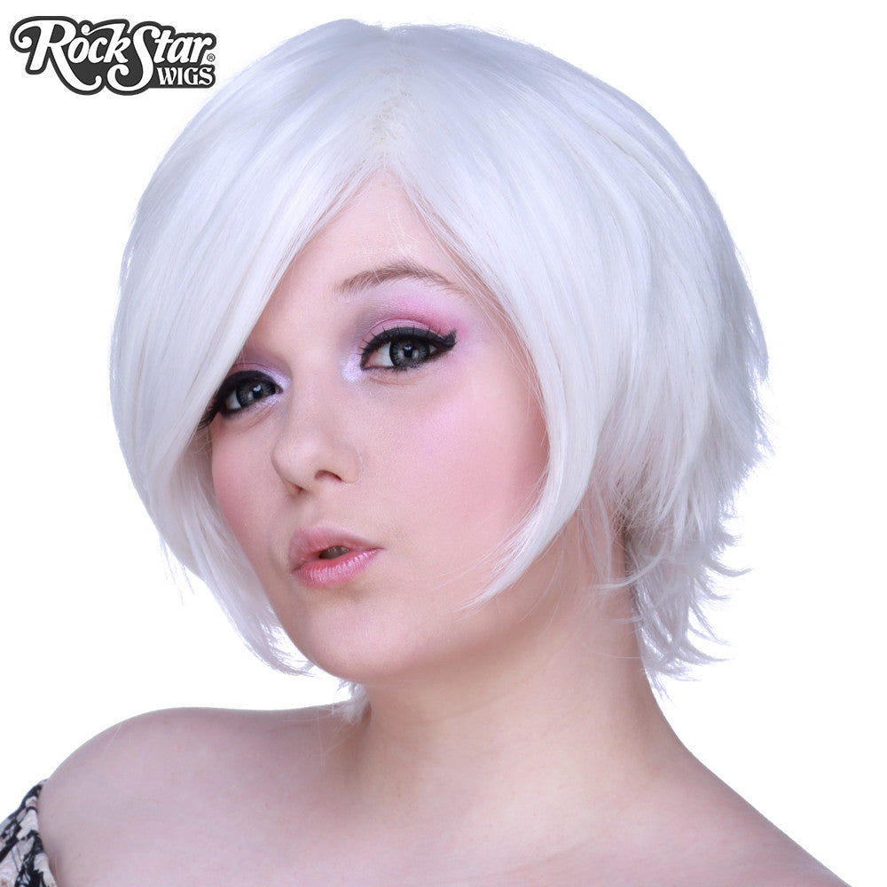 Cosplay Wigs USA™ <br> Boy Cut Short - White -00271