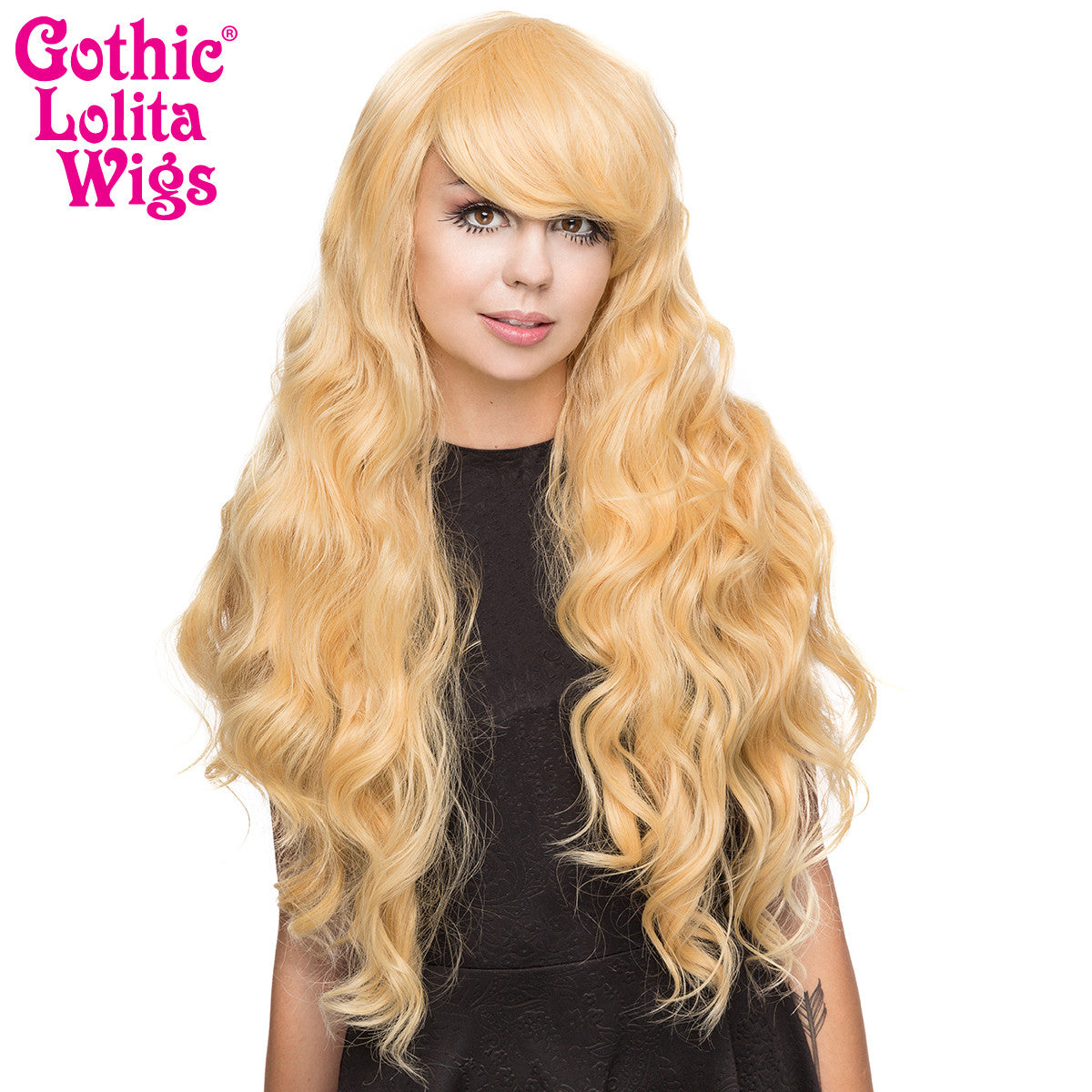 Gothic Lolita Wigs®  Classic Wavy Lolita™ Collection - Tokyo Blonde -00188