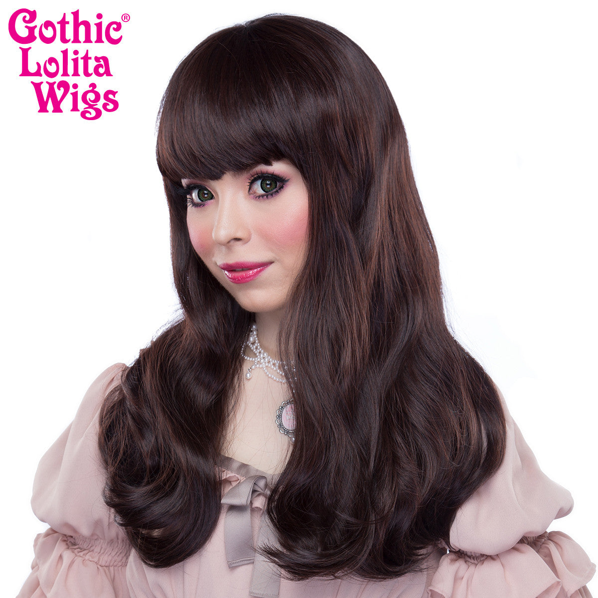 Gothic Lolita Wigs® <br> Straight Classic™ Collection - Dark Brown Mix -00033