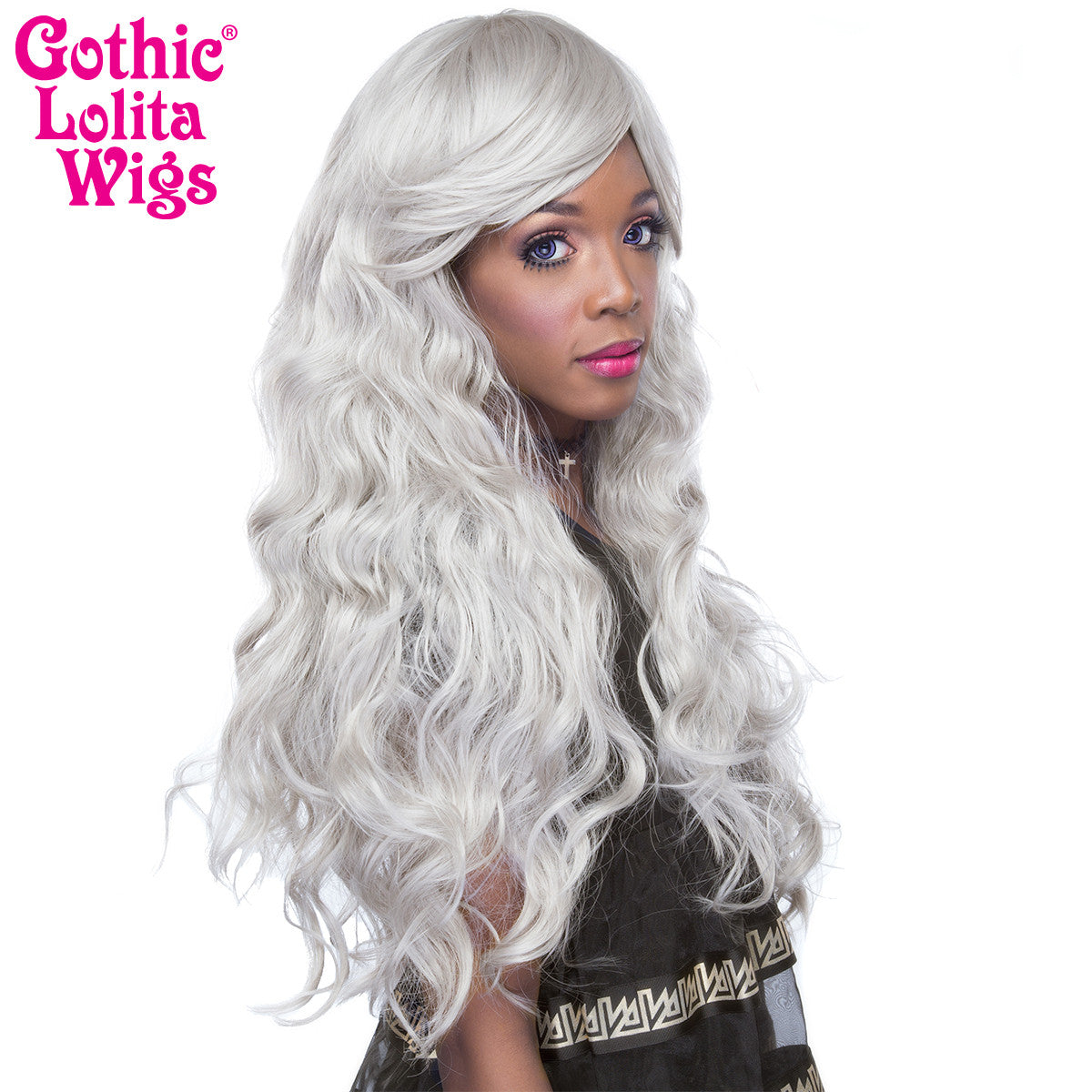 Gothic Lolita Wigs® <br> Classic Wavy Lolita™ Collection - Silver/Light Grey -00046
