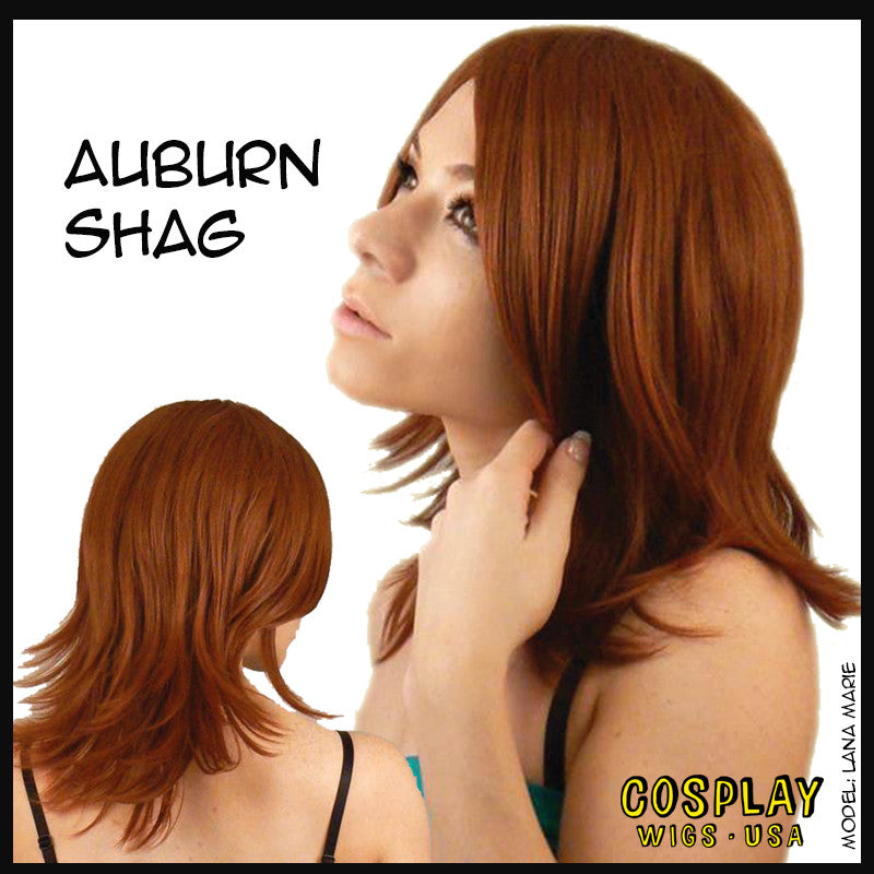 Cosplay Wigs USA™ <br> Boy Cut Shag - Auburn -00283
