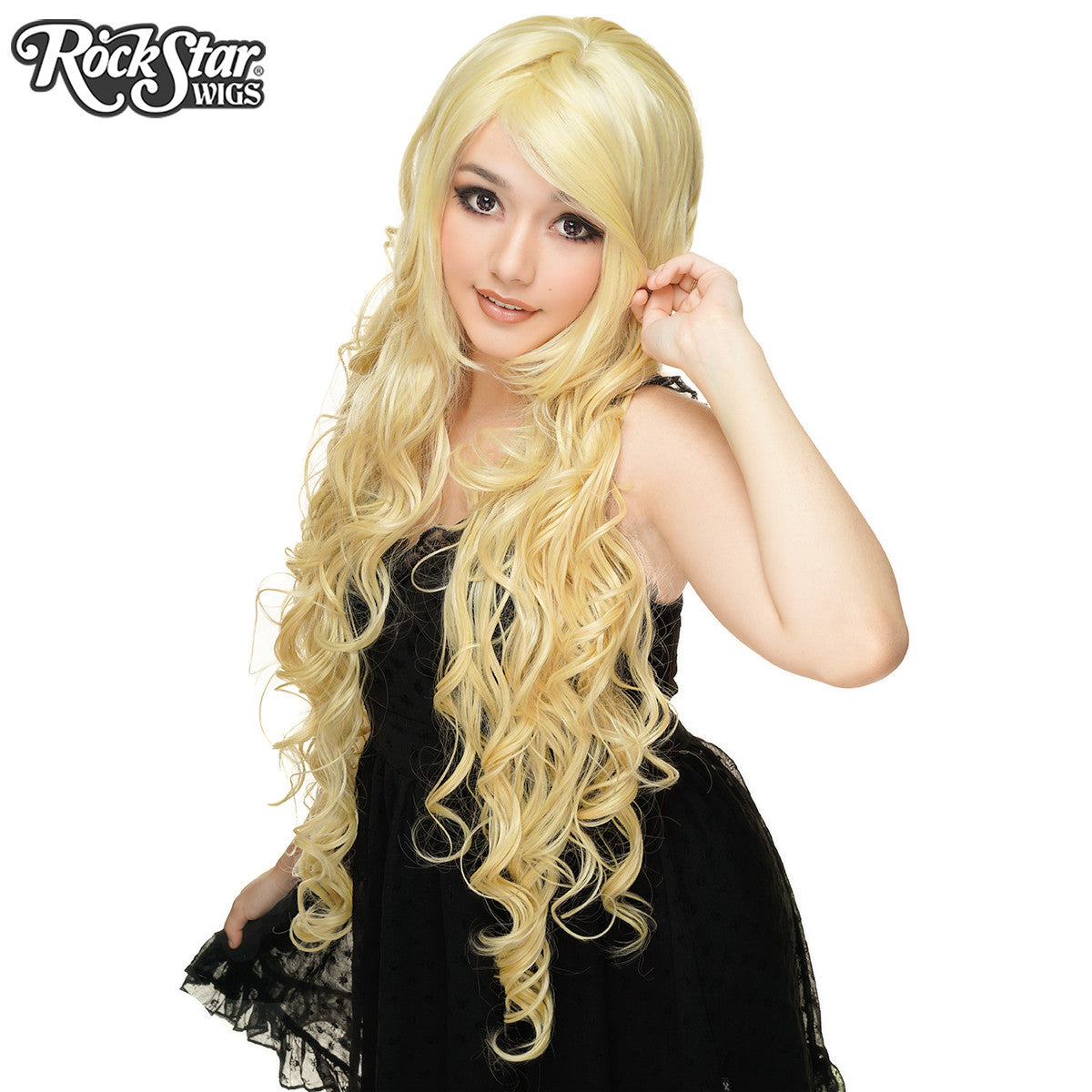 "Cosplay Wigs USA™ <br> Curly 90cm/36"" - Light Blonde -00326"