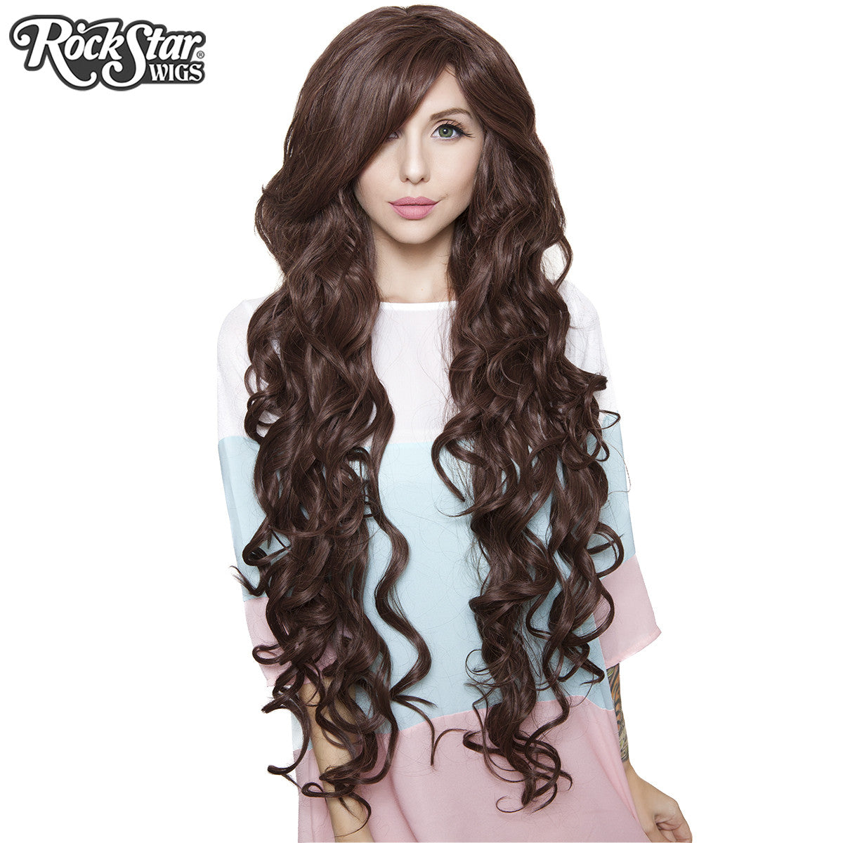 "Cosplay Wigs USA™ <br> Curly 90cm/36"" - Dark Brown -00322"
