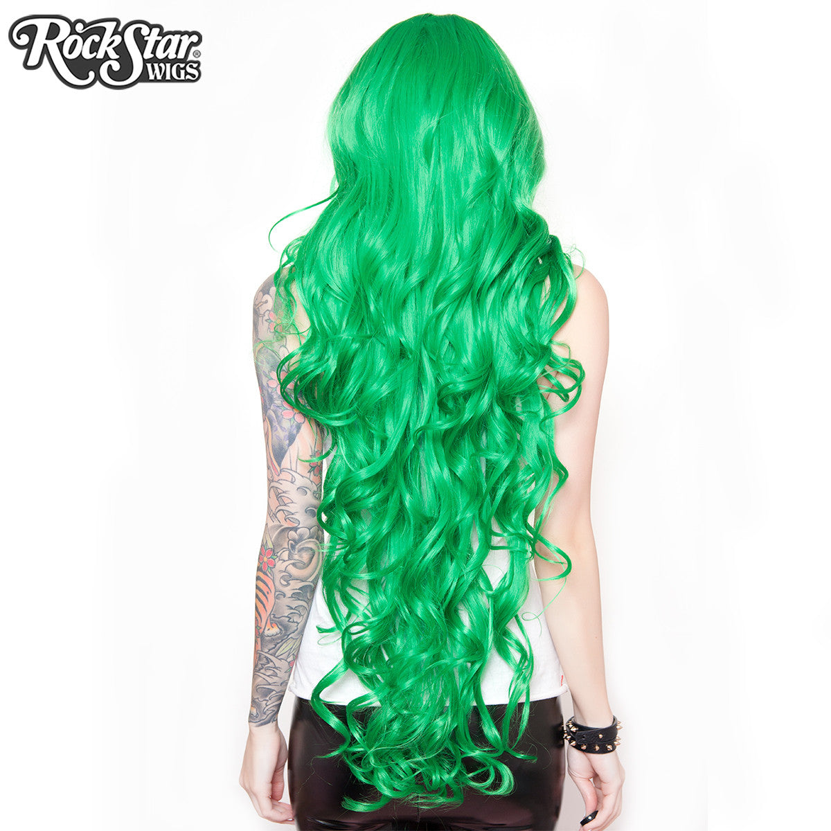 "Cosplay Wigs USA™ <br> Curly 90cm/36"" - Emerald Green -00324"