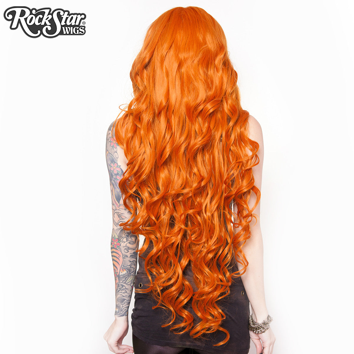 "Cosplay Wigs USA™ <br> Curly 90cm/36"" - Orange -00330"
