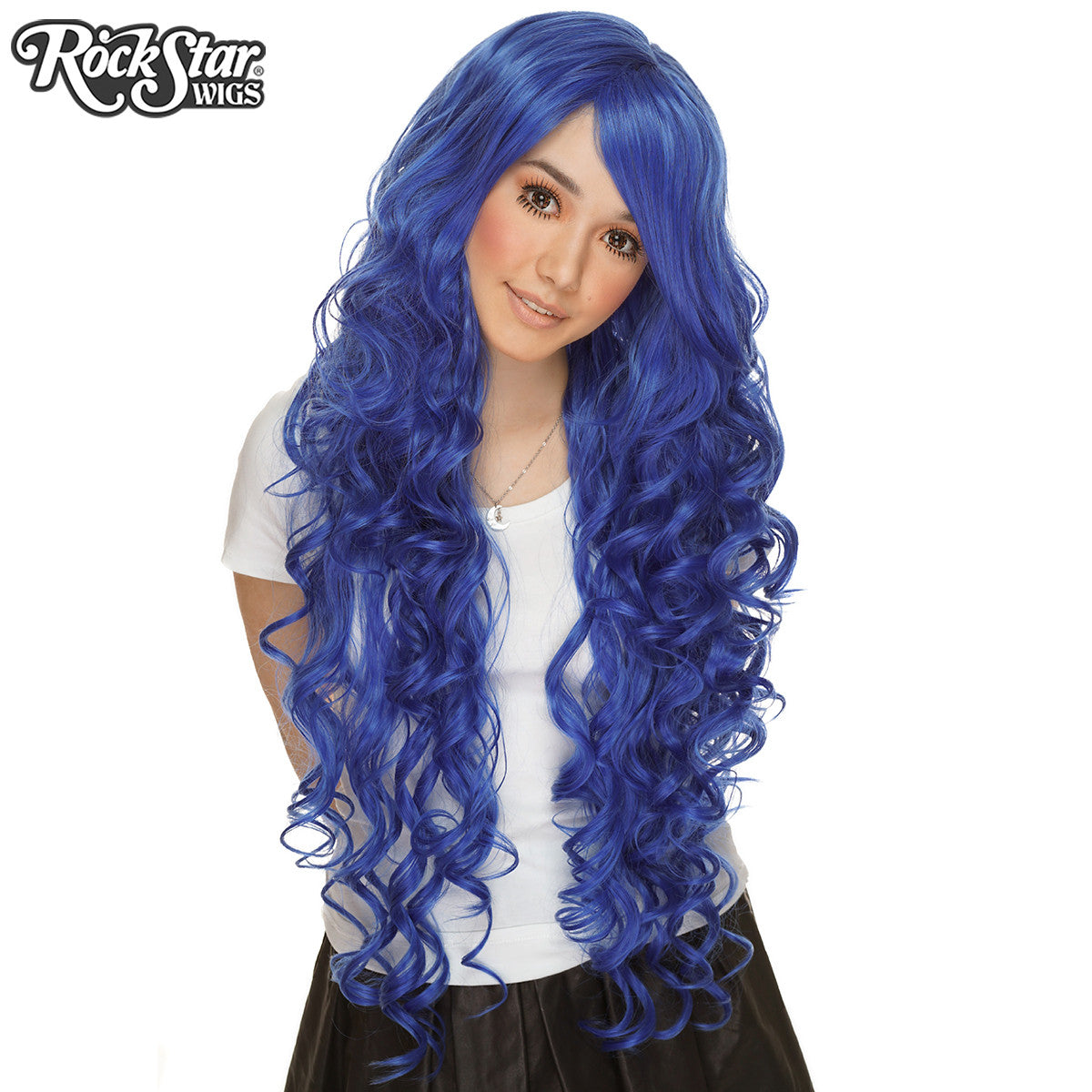 "Cosplay Wigs USA™ <br> Curly 90cm/36"" - Royal Blue -00332"