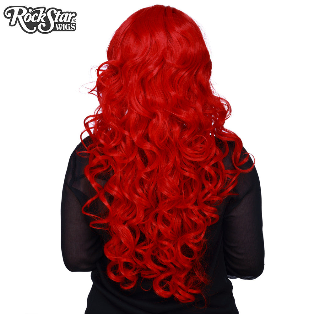 "Cosplay Wigs USA™ <br> Curly 70cm/28"" - True Red -00313"