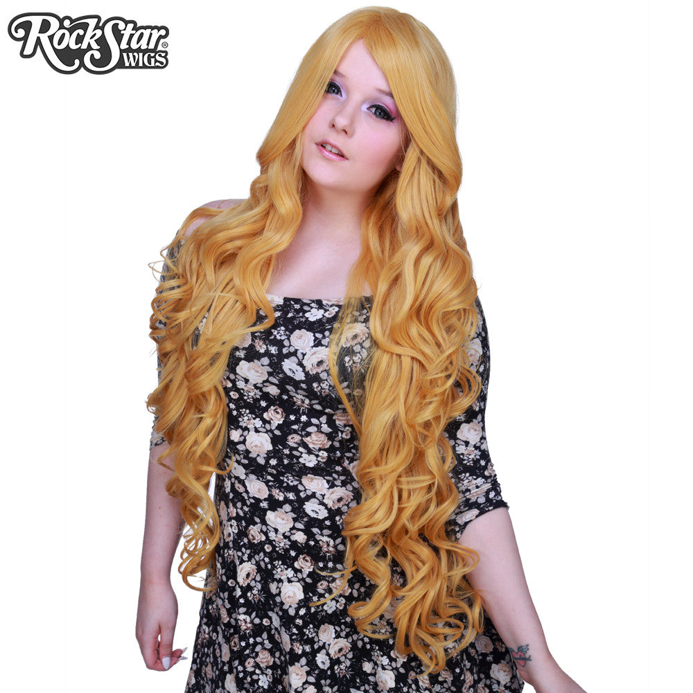 "Cosplay Wigs USA™ <br> Curly 90cm/36"" - Golden Blonde -00325"