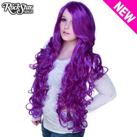 "Cosplay Wigs USA™ <br> Curly 90cm/36"" - Purple Mix -00554"