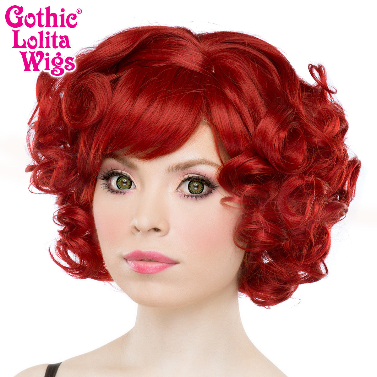 Gothic Lolita Wigs 174 Curly Bob Crimson Red Dolluxe 174