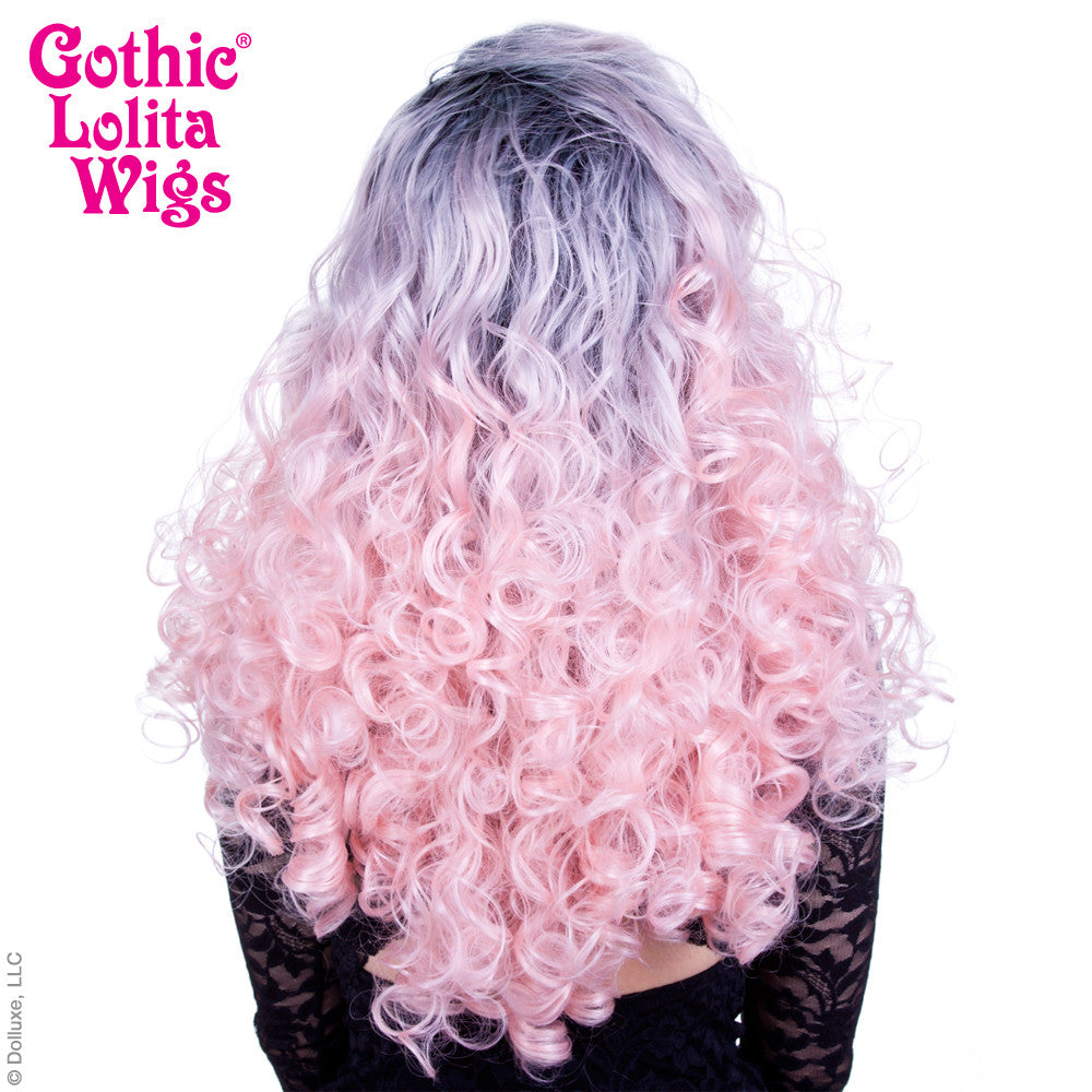 Lace Front Curly Dark Roots - Powder Pink -00564