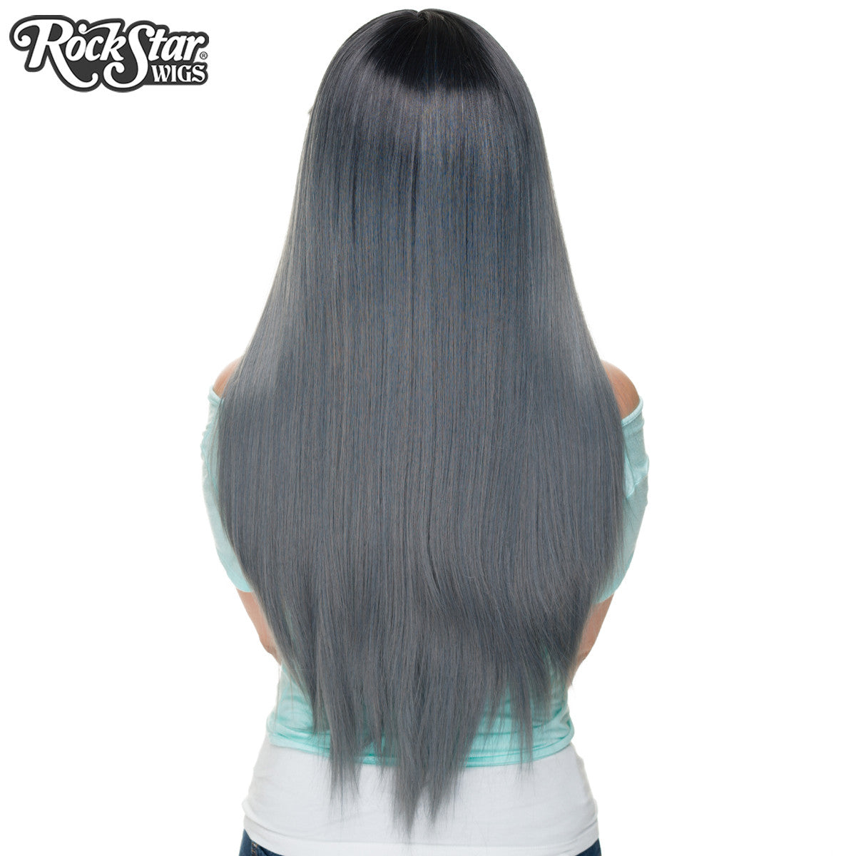 RockStar Wigs® Bella Dark Root ™ Collection - Dark Grey Pewter -00821