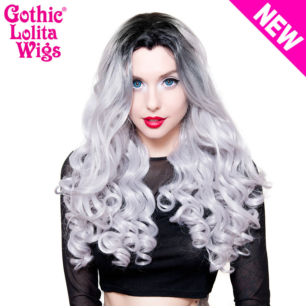 Lace Front Curly Dark Roots - Silver -00702