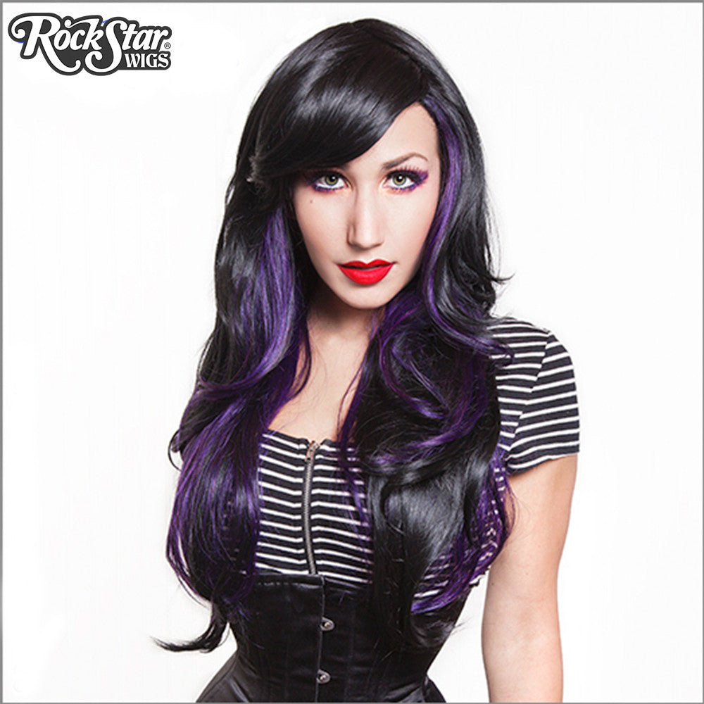 RockStar Wigs® <br> Downtown Girl™ Collection - Black & Violet -00367