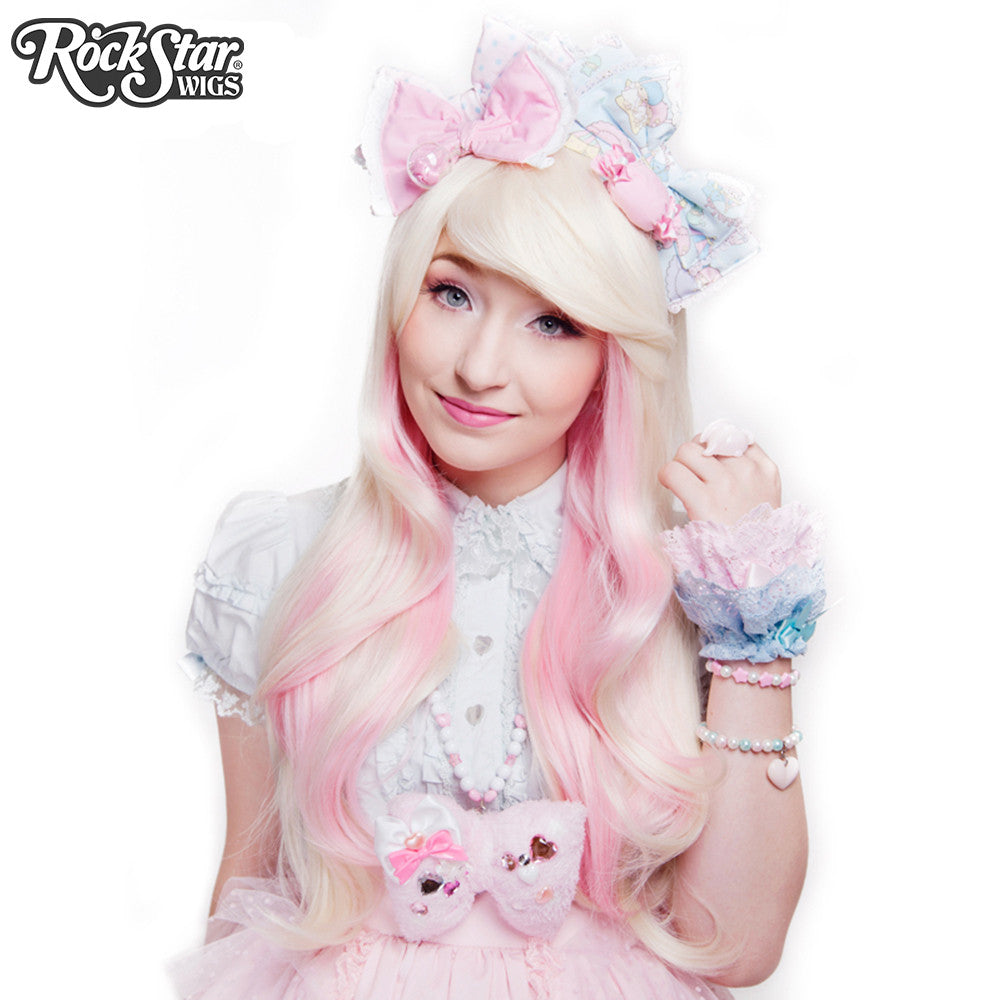 RockStar Wigs® <br> Downtown Girl™ Collection - Platinum Blonde Mix & Pink -00243