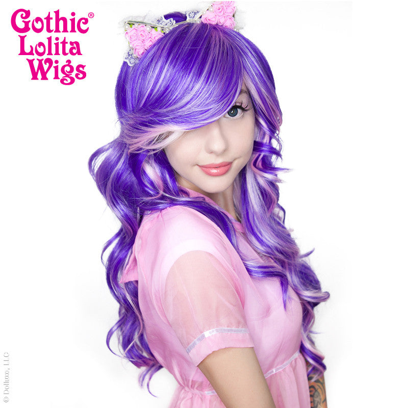 Gothic Lolita Wigs® <br> Duplicity™ Collection - Gleeful Grape (Purple/Pink Blend) -00026
