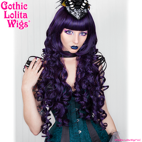 Dark Purple Violet Long Curly Gothic Lolita Wigs Store Elodie