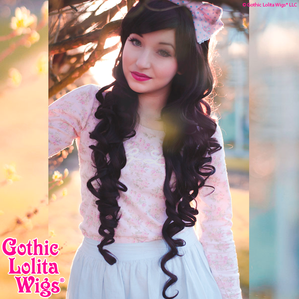 Long Curly Elodie Gothic Lolita Wigs Store Dark Chocolate Brown